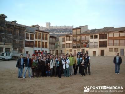 Plaza del Coso - Turismo Peñafiel; senderismo en madrid rutas
